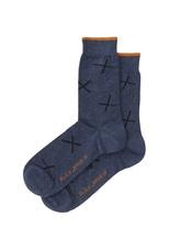 Nudie Jeans Socks 'Cross' blau Socken