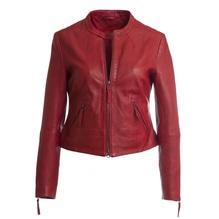 Kurze Damenlederjacke, Modell Doris, Farbe rot, bei Lederbekleidung Paschinger kaufen.