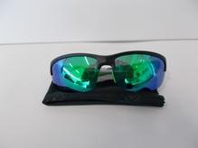 Sonnenbrille mit Polgläsern,schwarz/grün