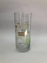 H:)ppylife  Trink-Glas mit Lama Tier-Motiv