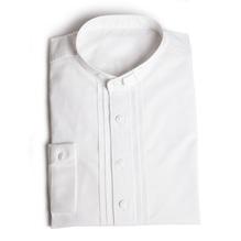 Stehkragen Pfoad, weiß, Baumwolle, Herren Trachtenhemd mit Riegerl. Bei Lederbekleidung Paschinger kaufen.