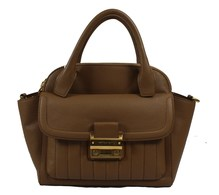 Matthew Harris Aminia Double Zip Handbag Almond