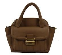 Matthew Harris Aminia Double Zip Handbag Almond