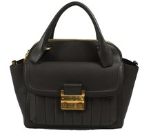 Matthew Harris Aminia Double Zip Handbag Dark Mud