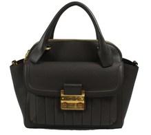 Matthew Harris Aminia Double Zip Handbag Dark Mud