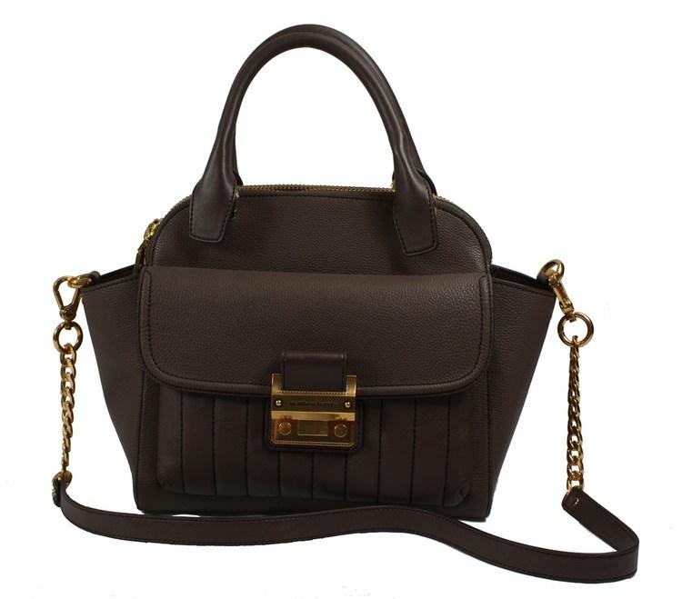 Matthew Harris Aminia Double Zip Handbag light taupe