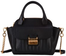 Matthew Harris Aminia Double Zip Handbag Black