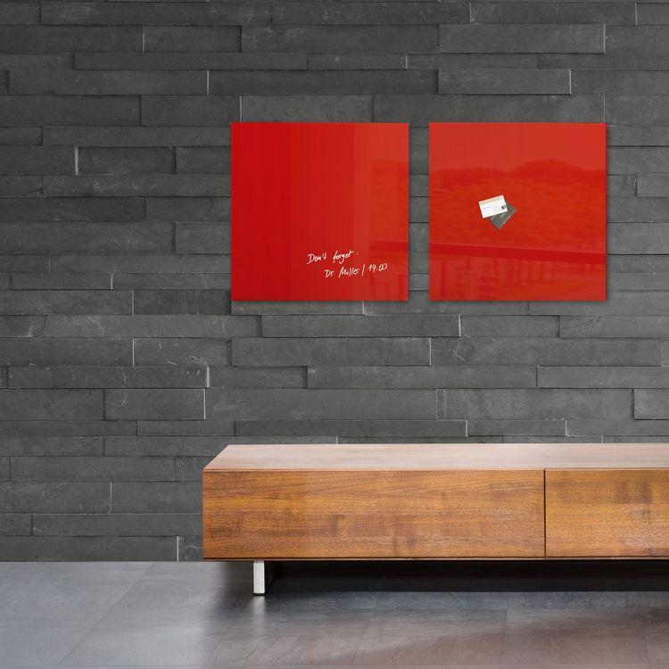 Glasmagnetboard - artverum whitw