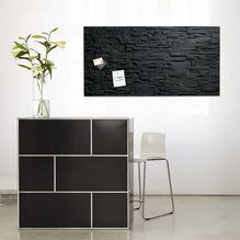 Glas-Magnetboard artverum® Schiefer-Stone