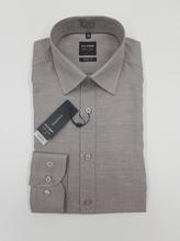 Olymp Hemd langarm beige Faserung body fit Level 5Five Bügelleicht aus 100% reiner Baumwolle bei Mode Schönleitner in Gmunden