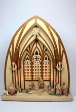 3D-Schwibbogen 'Dom mit Figuren' mit Beleuchtung