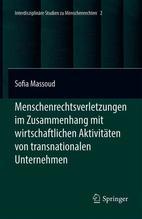 Menschenrechtsverletzungen im Zusammenhang mit wirtschaftlichen Aktivitäten von transnationalen Unternehmen   Massoud, Sofia