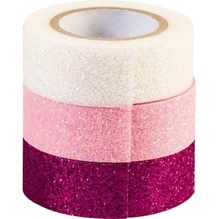 HEYDA Glitter Tape 3584375 pi/ro/ws 3 St./Pack.