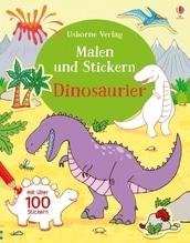 Malen und Stickern: Dinosaurier