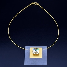 Collier Gold Kristall 48