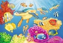 Ravensburger 78158 Puzzle: Kunterbunte Unterwasserwelt 2x24 Teile
