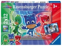 Ravensburger 76222 Puzzle: PJ Masks Gut gegen Böse 2 x 12 Teile