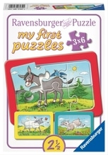 Ravensburger 61341 Puzzle: Esel, Schaf und Ziege 3x6 Teile