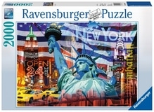 Ravensburger 166879  Puzzle New York Collage 2000 Teile