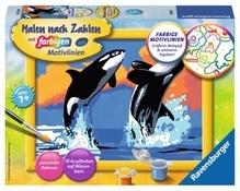 Ravensburger 280131 Malen nach Zahlen: Verspielte Orcas