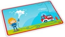 HABA Kinder-Tischset Feuerwehr