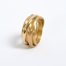 Gold Ring 'Twister'