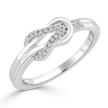 Weißgold Ring mit Brillanten, 0,10 Carat