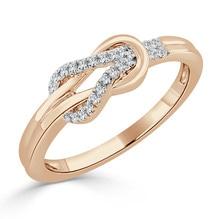 Rotgold Ring mit Brillanten 0,10 Carat