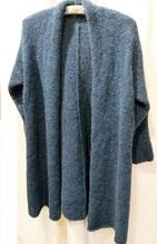 Lange Jacke, aus feinem Alpacagarn
