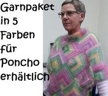 Garnpaket für Poncho einschließlich der Strickanleitung