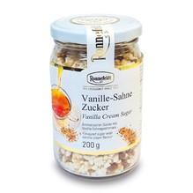 Vanille-Sahne Zucker im Glas