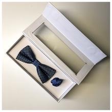Herren Schleife mit Ziertuch in Box