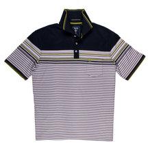 Herren-Poloshirt, doppelt merz., Fb. marine, hajo