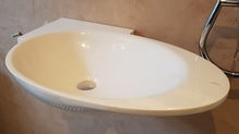 Mini Handwaschbecken Waschbecken von Clou oval 'Stone'