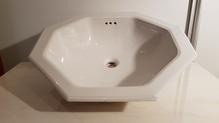 Waschbecken achteckig Keramik