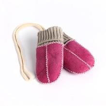 Balu Baby - Fäustlinge, Farbe: pink rosa, echtes Lammell. Bei Lederbekleidung Paschinger kaufen.