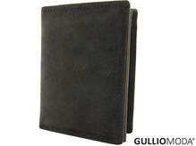 GULLIOMODA® Geldbörse im Hochformat (H513) Dunkelbraun