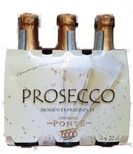 VITICOLTORI PONTE Prosecco Frizzante DOC 3 * 0,2 Liter