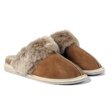 Pantoffel aus Lammfell, hellbraun, Hausschuhe, Fell-Schlapfen für den Winter, bei Lederbekleidung Paschinger kaufen