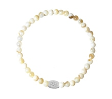 Armband M1 MOTHER OF PEARLS 4 mm silber
