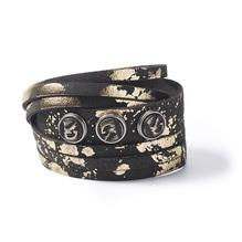 Armband wrap bracelet petit multi gold foil XS