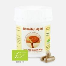 Bio Reishi / Ling Zhi - Vitalpilz-Pulver, 100 Kapseln