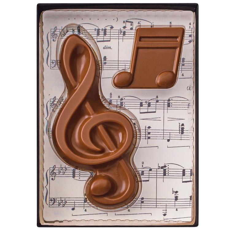 """Weibler Geschenkpackung """"Musik"""" Vollmilch-Schokolade, 40 g"""