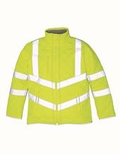 Hi Vis Kensington Jacket (with Fleece Lining) (Hi-Vis Yellow)