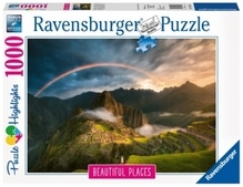 Ravensburger 151585 Puzzle: Regenbogen über Machu Picchu, Peru1000 Teile
