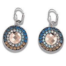 Ohrhänger Crystal blau