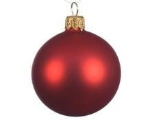 Uni-Glaskugeln 'weihnachtsrot matt' 8 cm, Karton mit 6 Stück