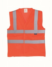 Hi Vis Top Cool Open Mesh Waistcoat (Hi-Vis Orange)