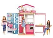 Mattel Barbie 2-Etagen Ferienhaus & Puppe
