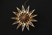 Deutsche Weihnachtssterne Manufaktur Scherenschnittstern gold 14 cm im Geschenkkarton